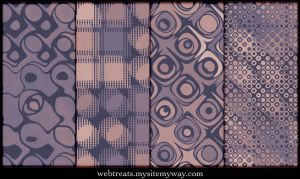 Faded Mauve Vintage Patterns by WebTreatsETC