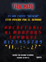 Metal font: TRICKAX by tople