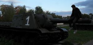ISU-152 and me by AntonMoscowsky