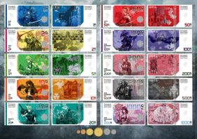 Final Fantasy Gil Banknote and Coin Collection by nei1b