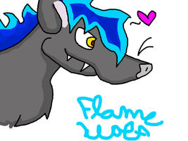 Flame Wolf by FoxSummoner