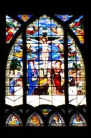 Montmarte church window 1 by wildplaces