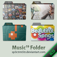 Music Folder 19 ICO by sp3ctrm5tr