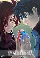 Red and Blue by mewDoubled