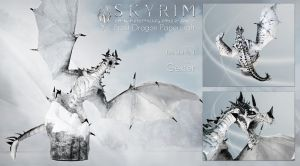 Skyrim Frost Dragon Papercraft Cover 1 by g3xter