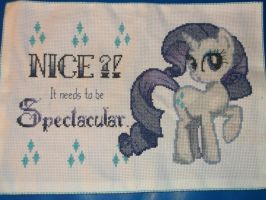 My Little Pony: Rarity Cross-Stitch by BlushiexD