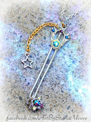 OATHKEEPER AUCTION Keyblade by ArtByStarlaMoore