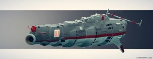 Russian Space Battleship Zamyatin by AtomicGenjin