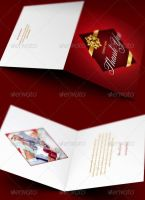 Company Christmas Thank You Card Template by loswl