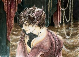 Smaug - human version by Throne-of-the-Roses