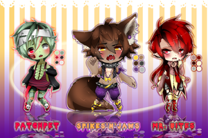 .:Adoptable Halloween Set:. CLOSED (MALES) by Noririn-Hayashi