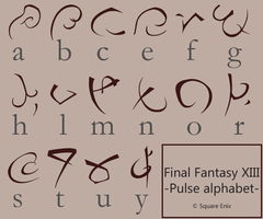 Final Fantasy 13 - Pulse font by rockstarREMIX