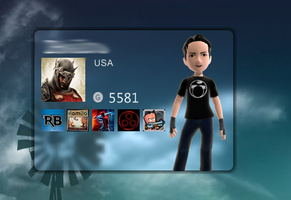 Xbox Live Gamercard for Rainmeter by joaosagrath