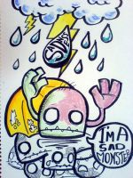 I'm A Sad Monster by abusedmember
