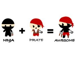 Ninja, Pirate, Awesome by PixelBunny