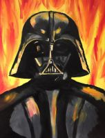 Lord Vader on Fire (Oil-Painting) by JuanaSunfall