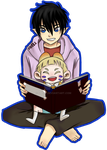 usamaro x rin book reading by SAI182