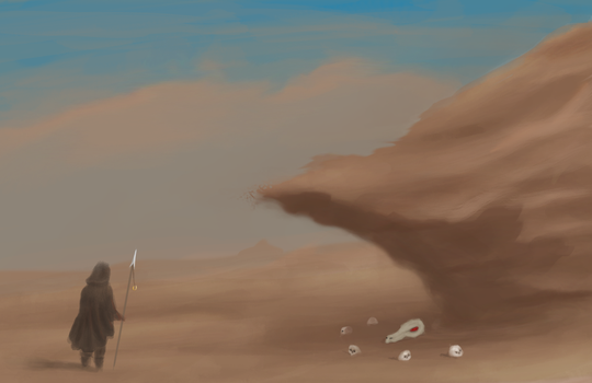 Desert Stone Cliff by SGTHappyy