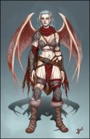 Izel - Barbarian Succubus by HecM