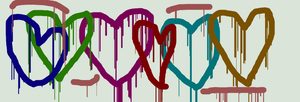 dripping hearts collection by starshine1957