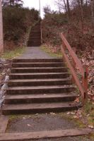 Rocky Trail Down Stairs 2 by happeningstock