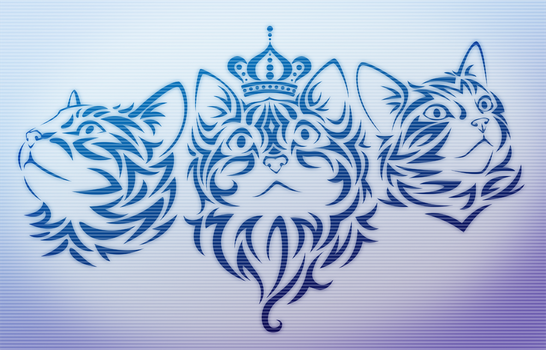 Tribal Kittehs - Brushes by Roxo89