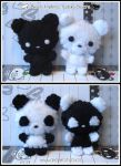 Black and White Bears by littlepaperforest