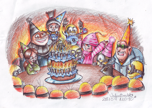 .:Despicable Birthday:. by kittyXartist
