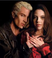 Spike and Dru by zomberflie