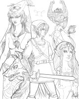 Zelda: Twilight Princess Inks by alexa