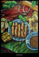 Satay and Lobster by reubenteo
