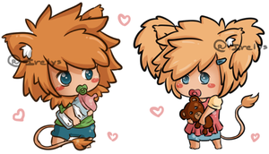 Sold: Baby chibi lions by Irelys-Adoptables