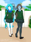Coral and June at school by Dr-Innocentchild