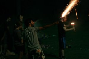 Ahh roman candle by Assemblitphoto