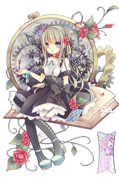 Cute Lolita Girl and Clock Extracted byCielly by CiellyPhantomhive