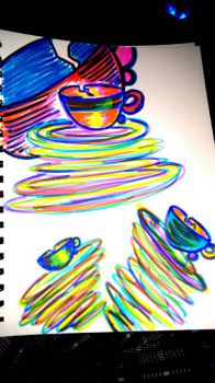 Colorful Cups by ArtsyChick28
