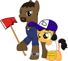Lee and Clementine by xenoneal