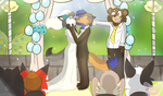PW and WF at alter kissing by ilovecorgis