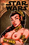 Naughty Slave Leia bust cover by gb2k
