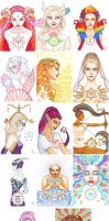Zodiac cards by MorganeDeMatons