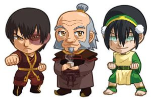 Avatar Set 2: Zuko, Iroh, Toph by cosplayscramble
