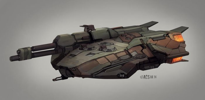 Commission - Klingon Tank Destroyer by Shimmering-Sword