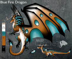 CE-Blue Fire Dragon design by CrystalCircle