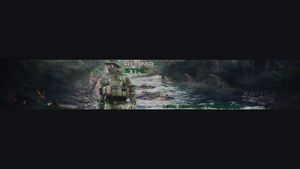 Glitch Style YT Banner by ItsSync