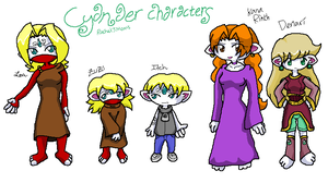 Cyanaer characters by Moosader