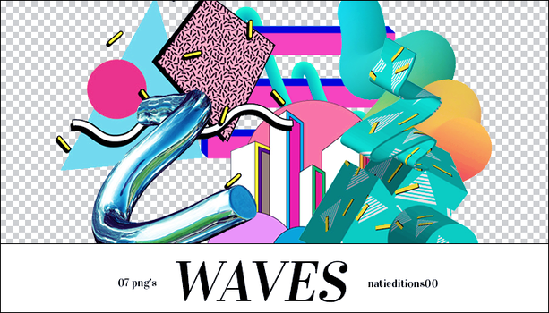 + Waves |7 png's| by natieditions00