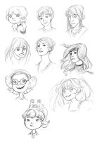 Portrait Sketch Commission Examples by Zippora
