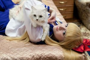 Sailor Moon: She and her cat by lucien-fleurier