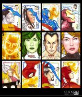 Marvel Sketch Cards by OAK-Art-Gallery