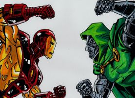 Iron Man VS Dr. Doom by meralc